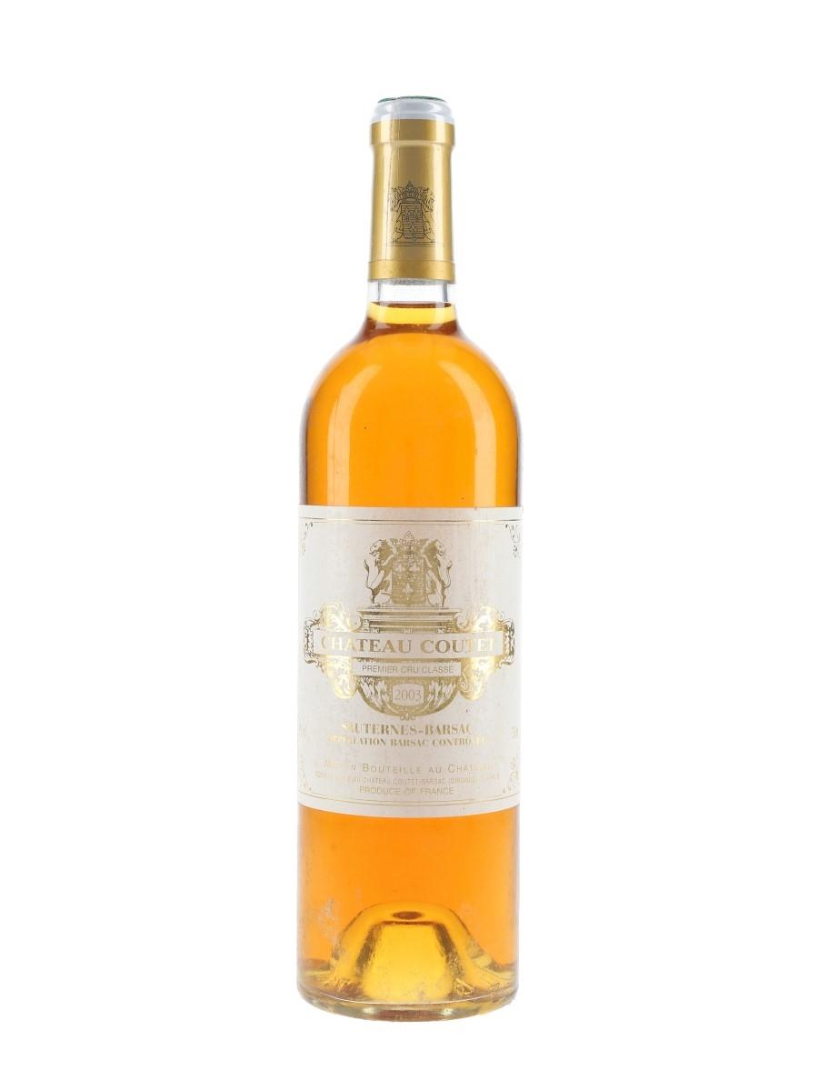 Chateau Coutet 2003 Premier Cru Classe Sauternes - Barsac 75cl / 14%