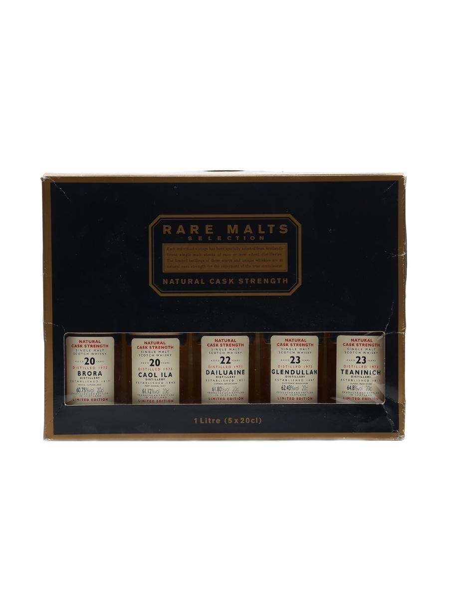 Rare Malts Selection Incl. Brora 1975 5 x 20cl