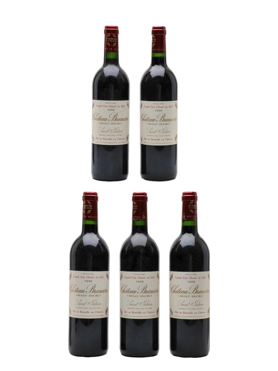 Chateau Branaire Ducru 1996 Saint Julien 5 x 75cl / 13%