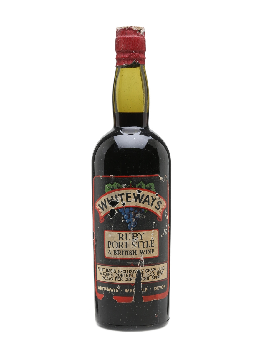 Whiteway's Ruby Port Style British Wine Bottled 1950s 75cl / 26.5%