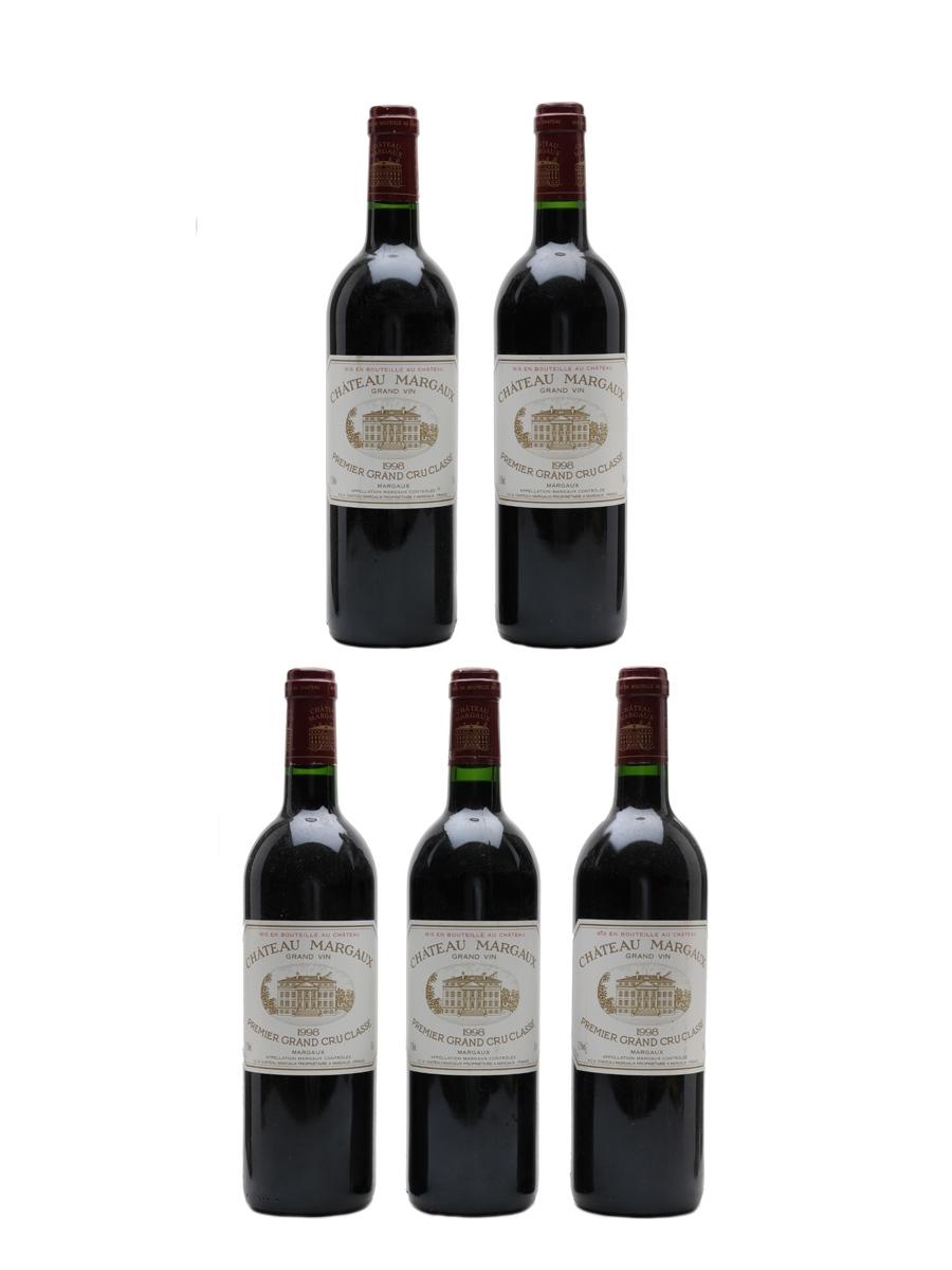 Chateau Margaux 1998 Premier Grand Cru Classe 5 x 75cl / 12.5%