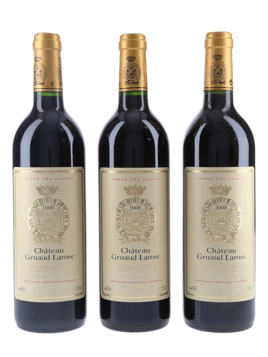Chateau Gruaud Larose 2000 Saint Julien 3 x 75cl / 12.5%