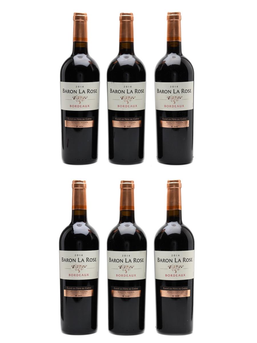 Baron La Rose 2014 Bordeaux - Vielles Vignes 6 x 75cl / 12%