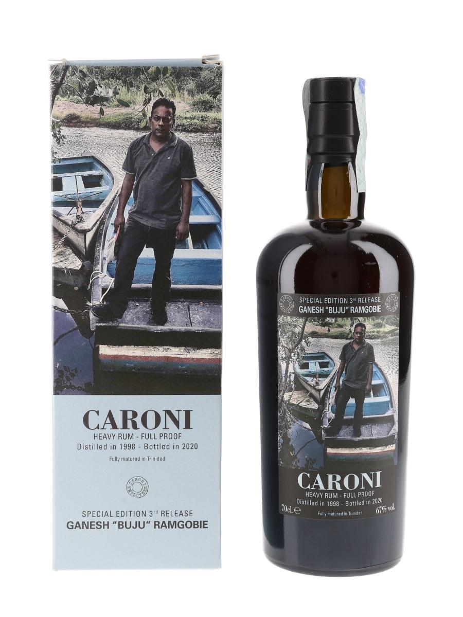 Caroni 1998 Heavy Rum Full Proof 3rd Employees Release Bottled 2020 - Ganesh 'Buju' Ramgobie 70cl / 67%