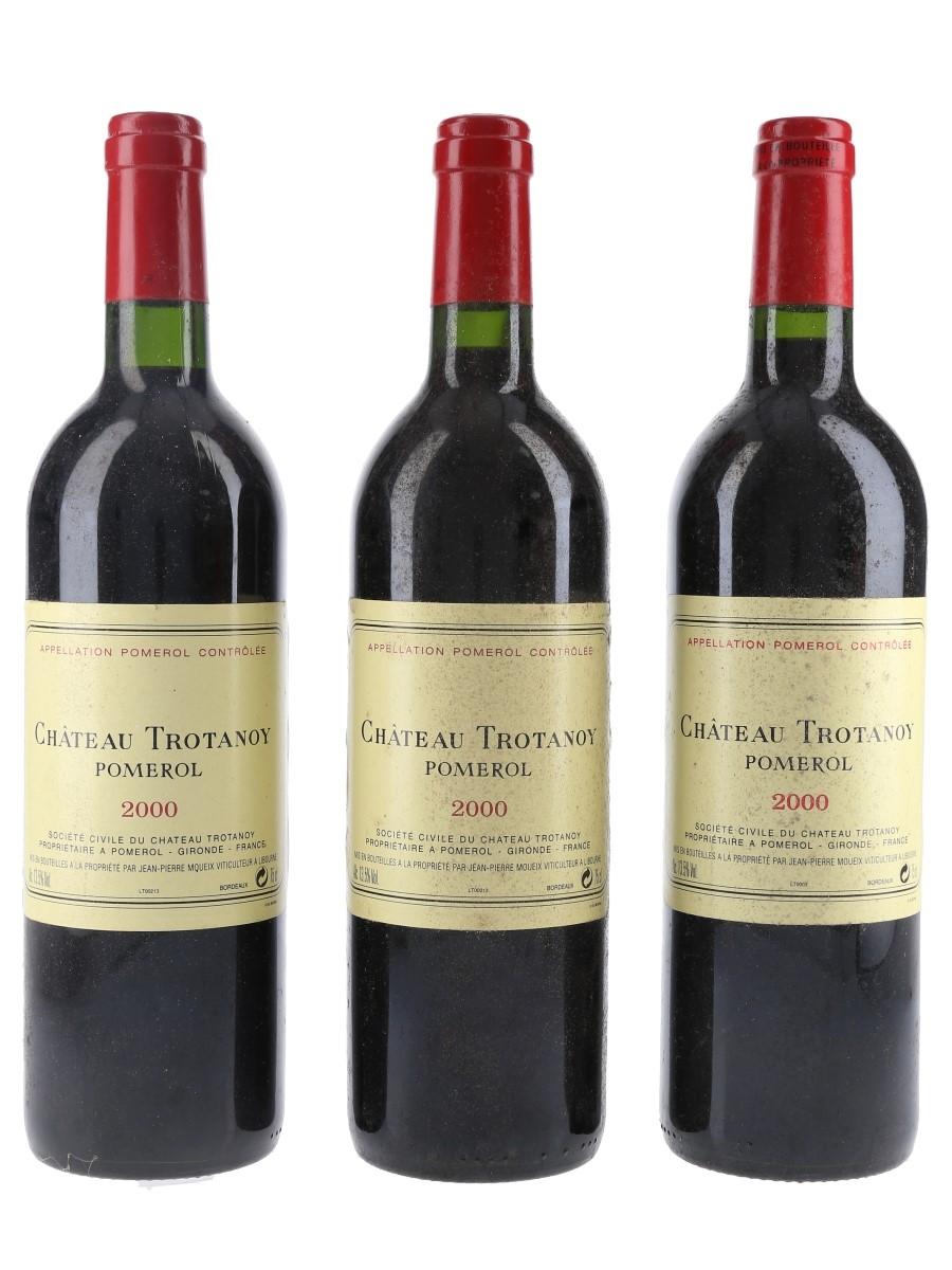 Chateau Trotanoy 2000 Pomerol 3 x 75cl / 13.5%