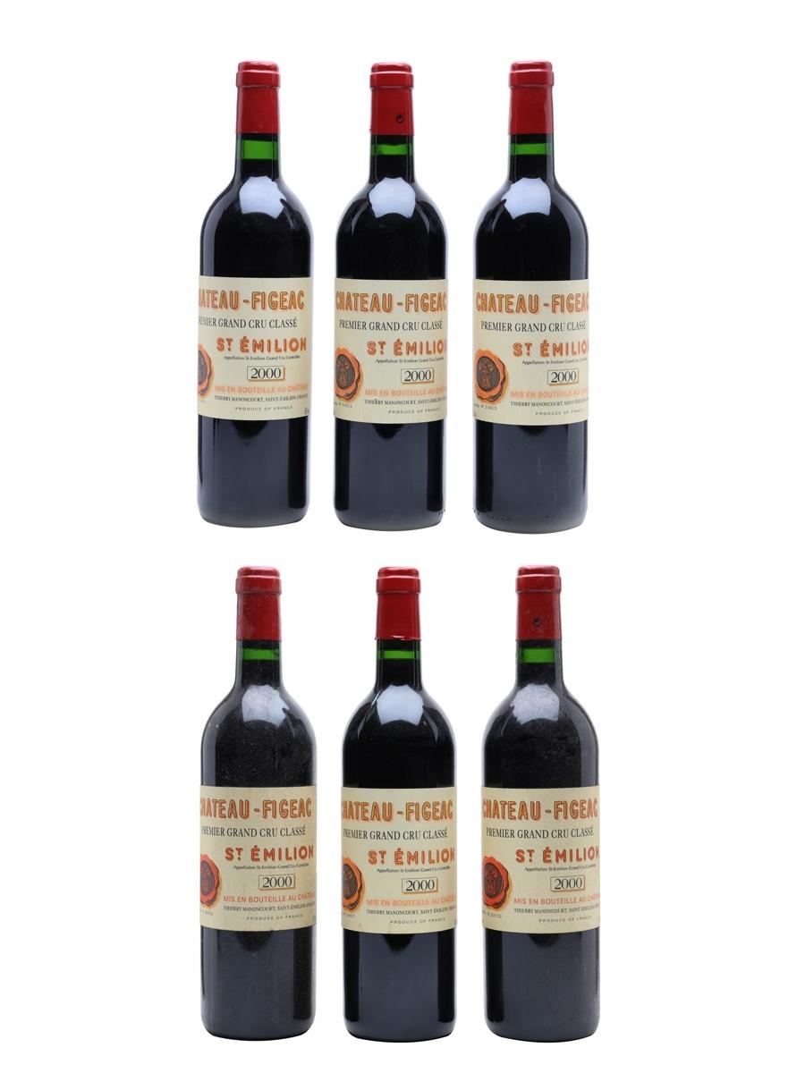 Chateau Figeac 2000 St Emilion Premier Grand Cru Classe 6 x 75cl / 13%