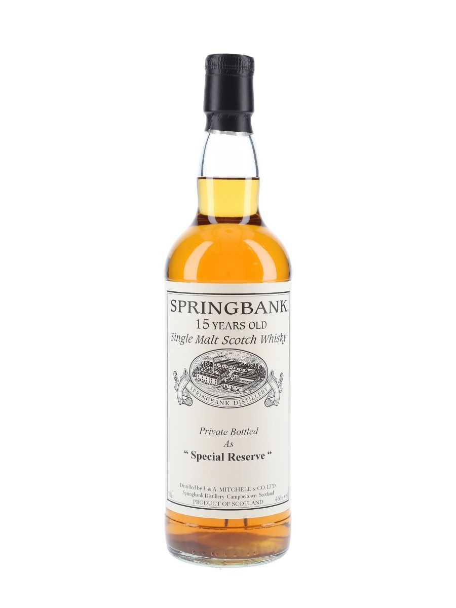 Springbank 1996 15 Year Old Special Reserve Cask 477 Private Cask Bottling 70cl / 46%
