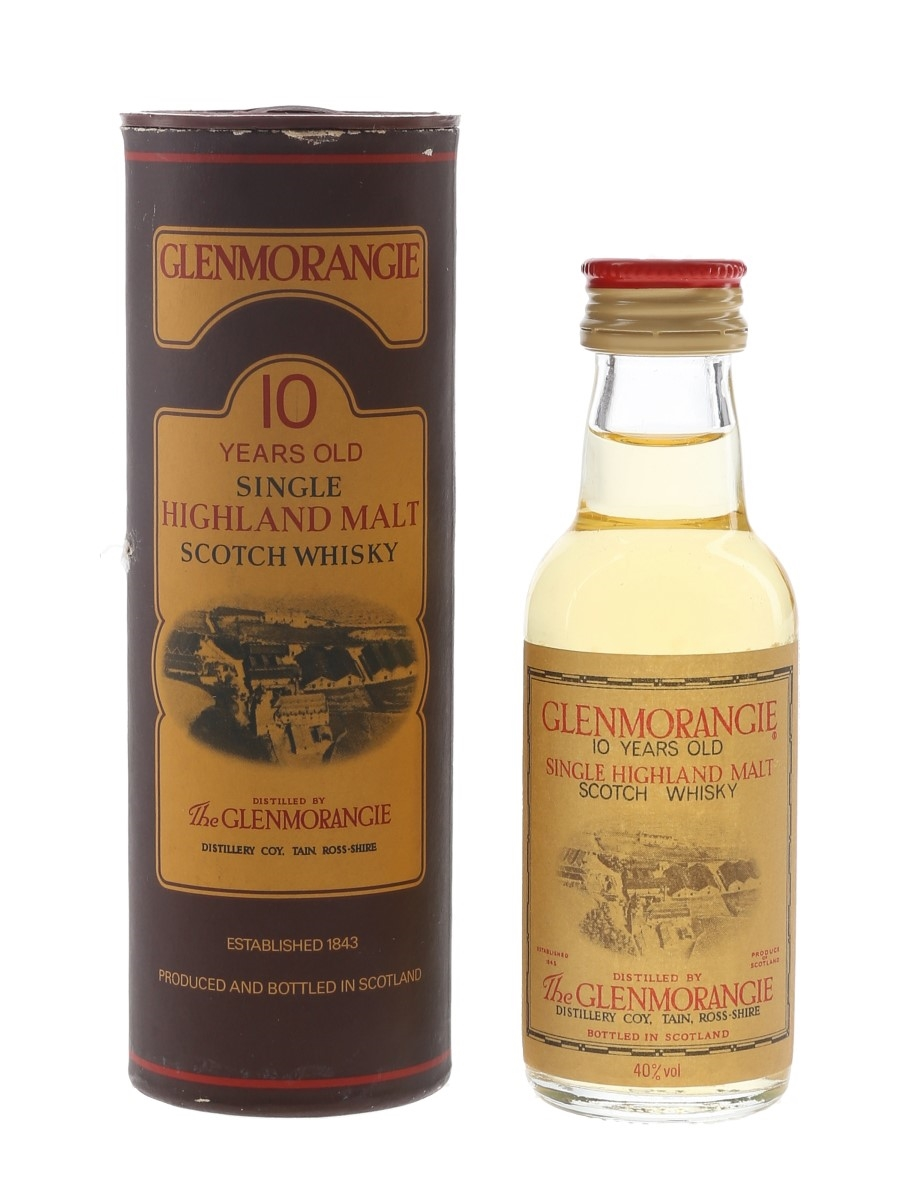 Glenmorangie 10 Year Old Bottled 1980s 5cl / 40%
