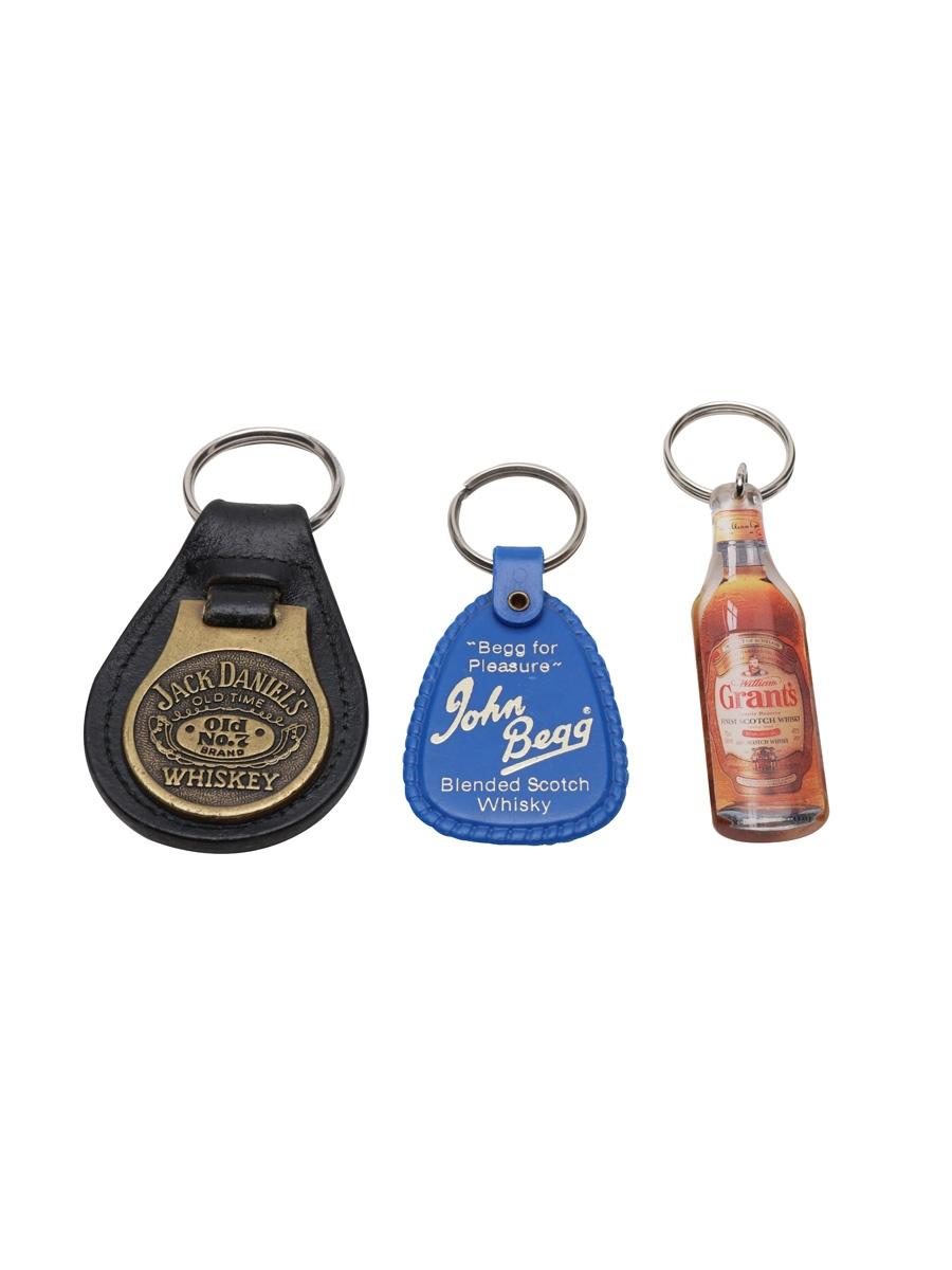 Grant's, Jack Daniel's & John Begg Keyrings