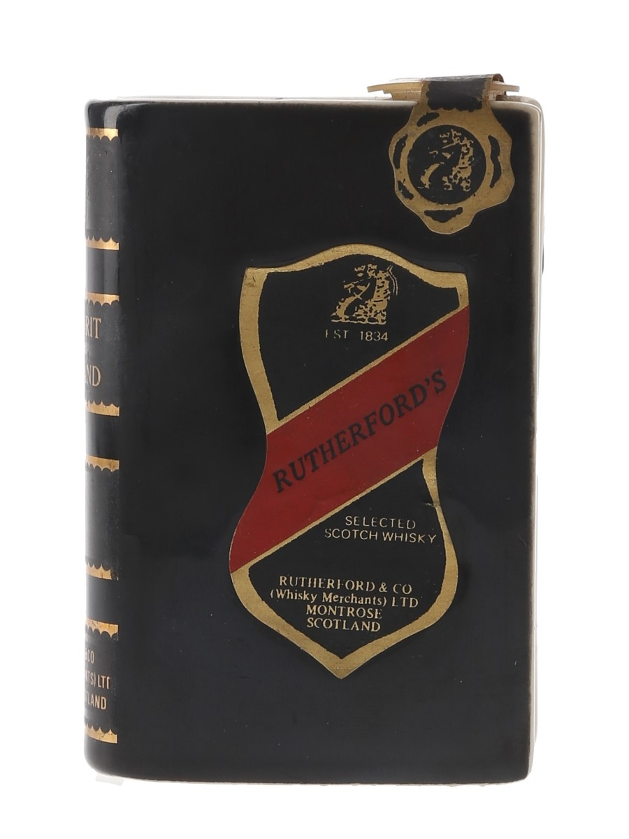 Rutherford's Spirit Of Scotland Bottled 1980s - Ceramic Book Miniature 5cl / 40%