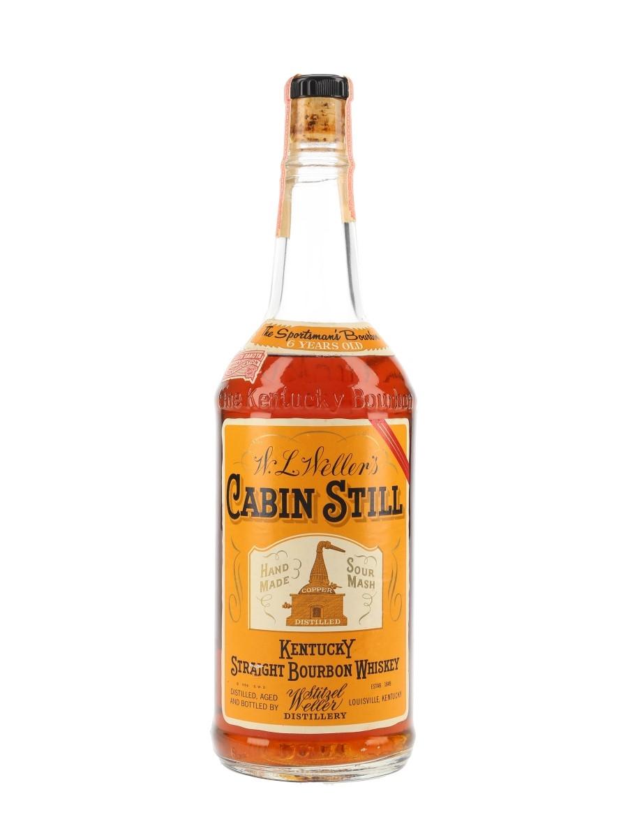 W L Weller's Cabin Still 6 Year Old Bottled 1960s - Stitzel-Weller Distillery 75.7cl / 43%