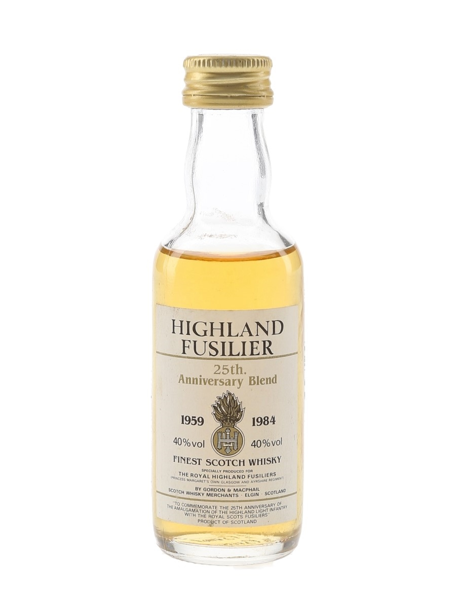 Highland Fusilier 25th Anniversary Blend Bottled 1984 - Gordon & MacPhail 5cl / 40%