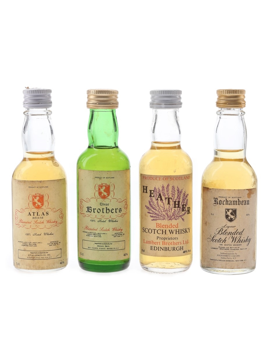 Assorted Lambert Brothers Blends Bottled 1980s 4 x 5cl / 40%