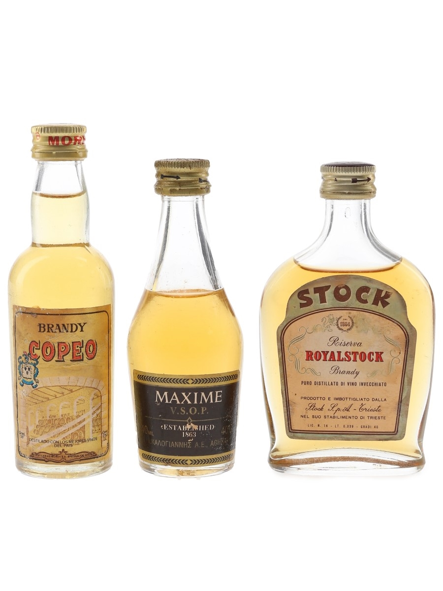 Copeo, Maxime & Royalstock Bottled 1980s 3 x 3cl-4cl