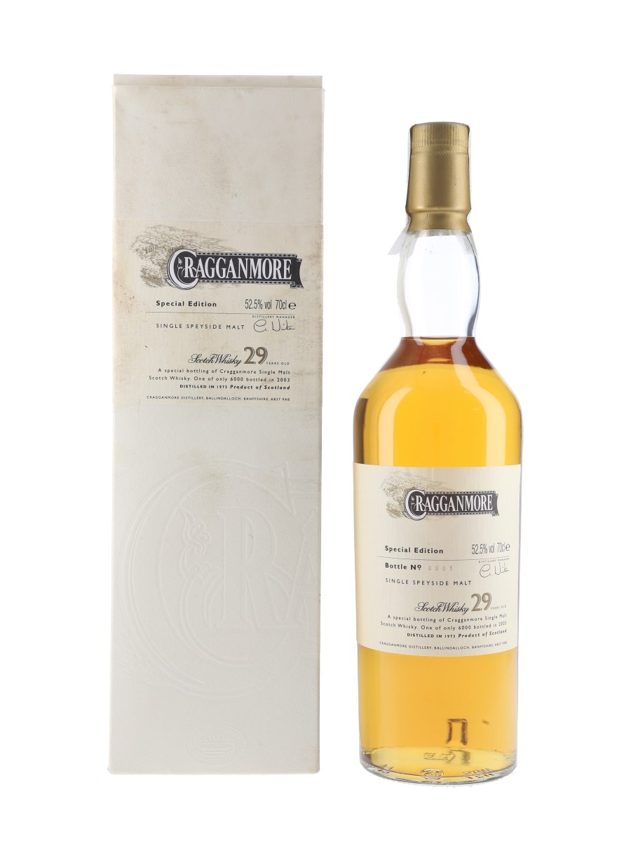 Cragganmore 1973 Special Releases 2003 - Bottle Number 3 70cl / 52.5%