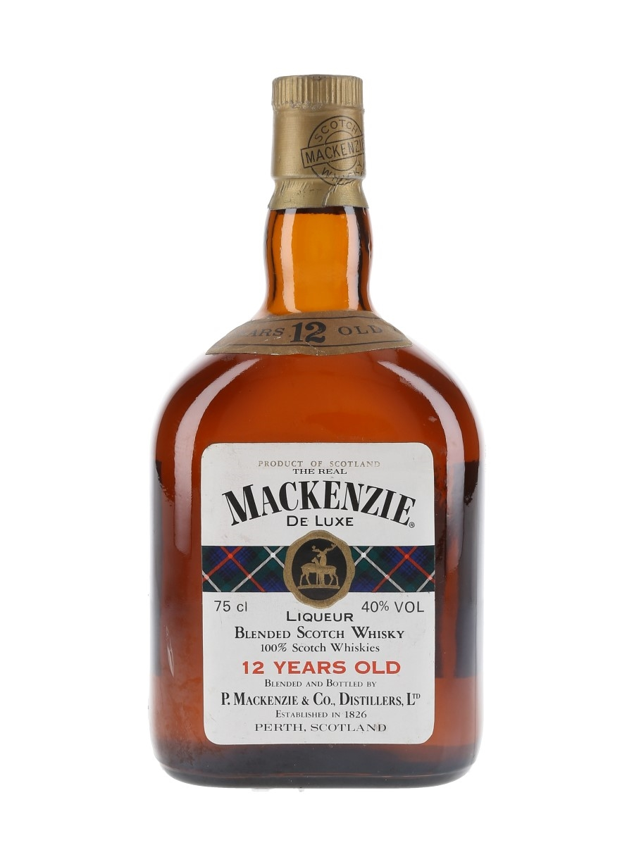 The Real Mackenzie De Luxe 12 Year Old Bottled 1970s - Numbered Bottle 75cl / 40%