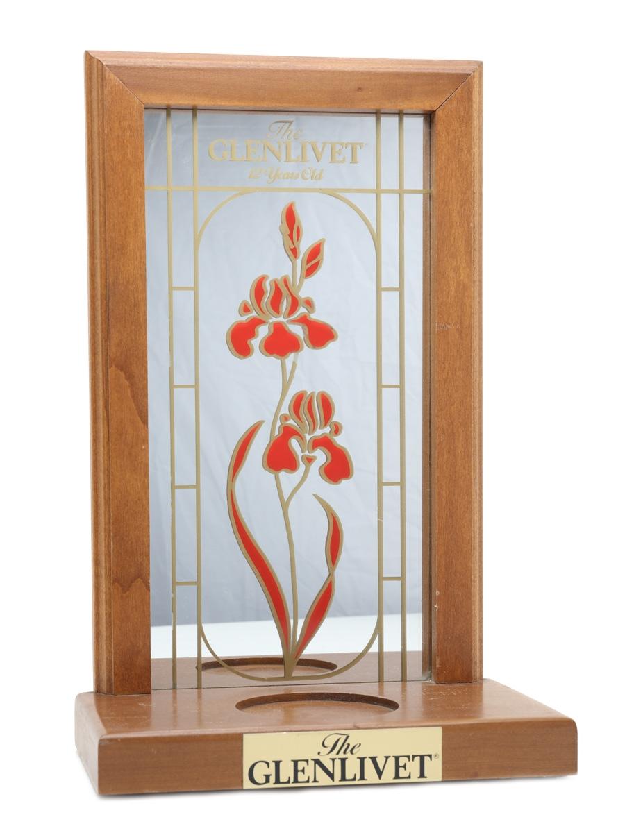 Glenlivet 12 Year Old Mirrored Bottle Display Stand  41cm x 26cm x 15cm