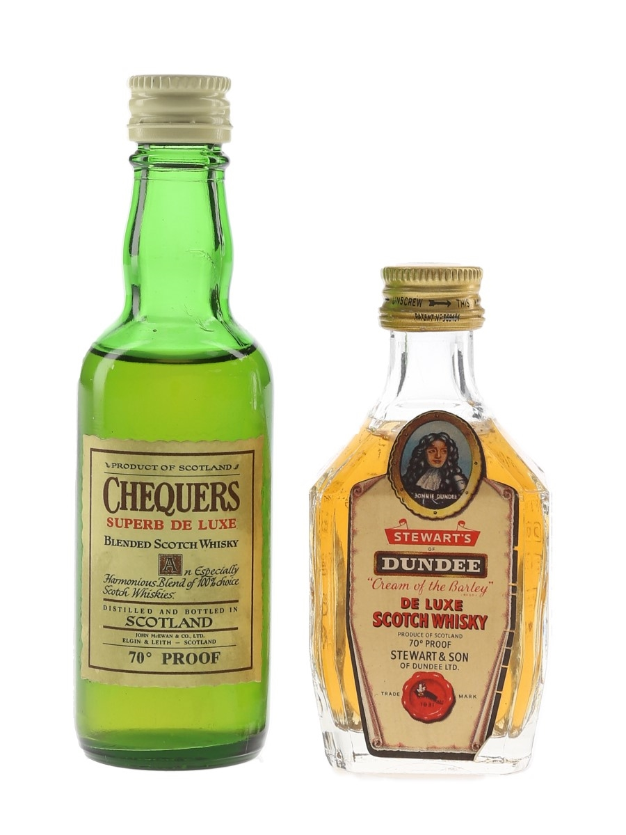 Chequers & Stewarts Dundee Bottled 1970s 2 x 5cl / 40%