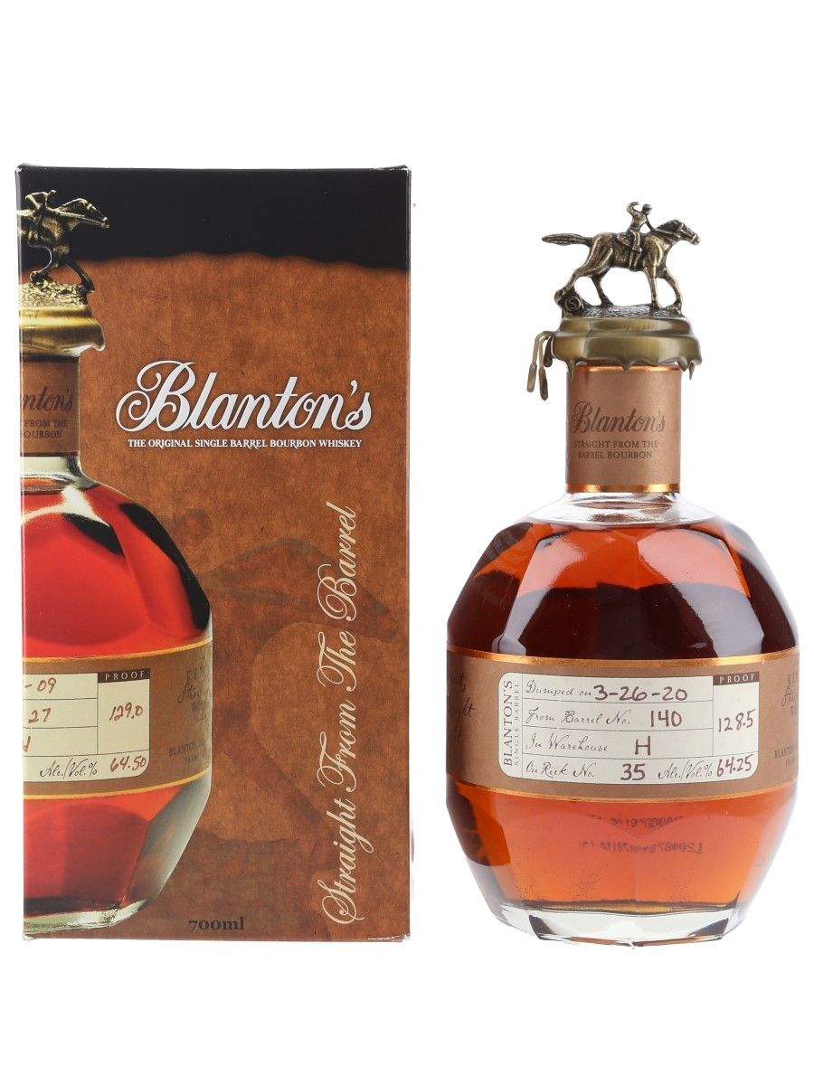 Blanton's Straight From The Barrel No. 140 Bottled 2020 70cl / 64.25%