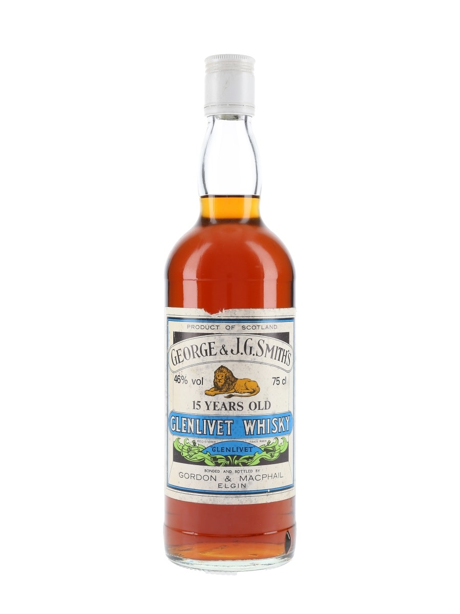 Glenlivet 15 Year Old Bottled 1980s - Gordon & MacPhail 75cl / 46%
