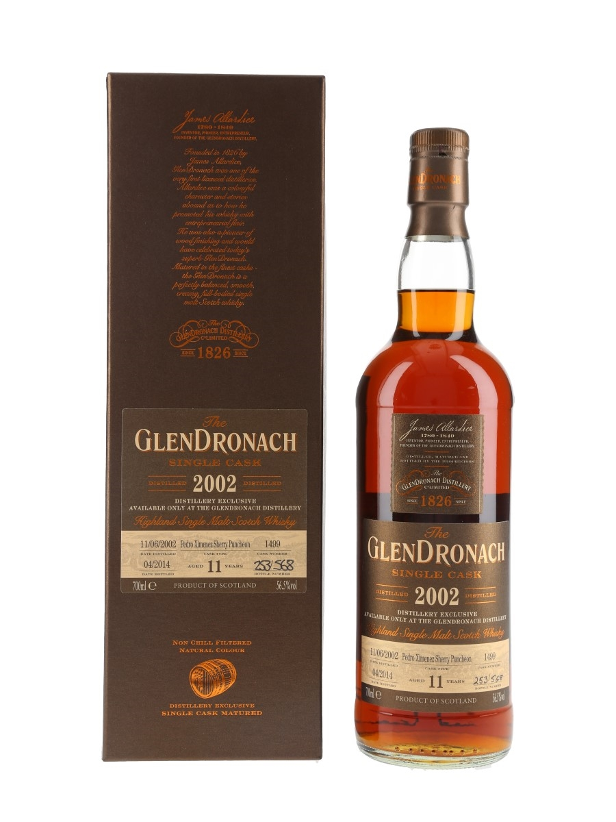 Glendronach 2002 11 Year Old Pedro Ximenez Puncheon Bottled 2014 - Distillery Exclusive 70cl / 56.5%