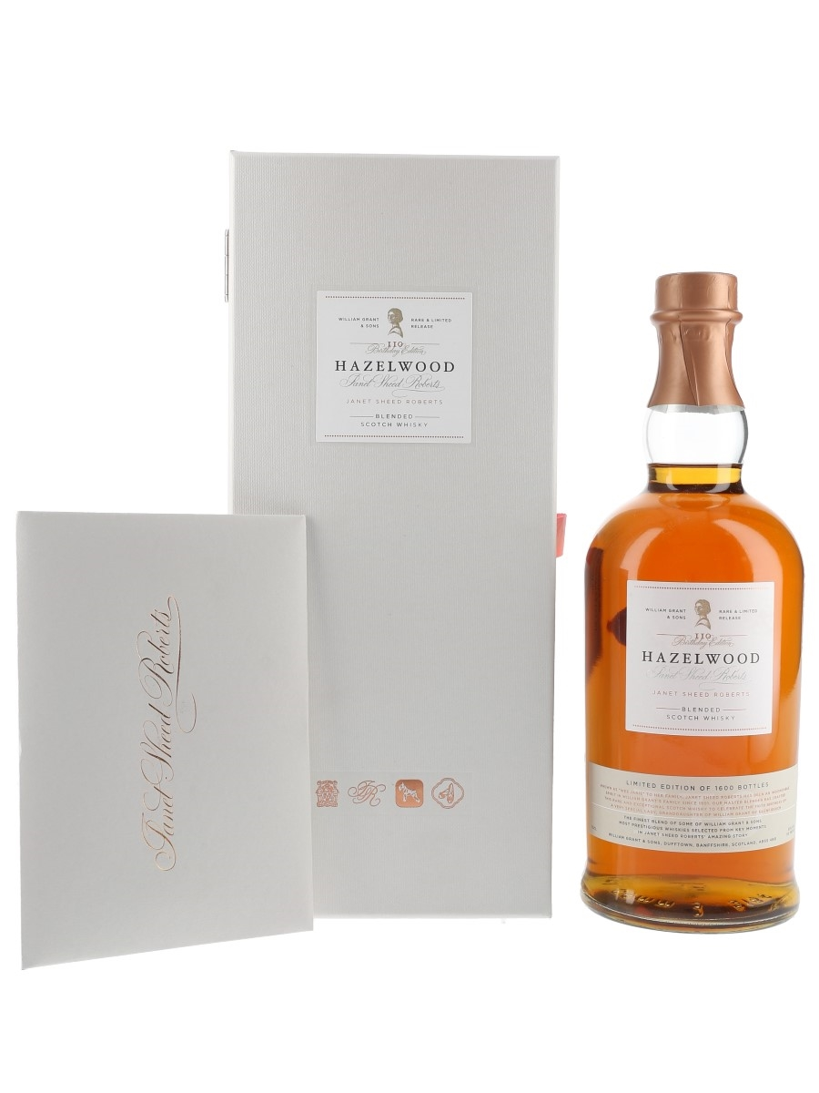 Hazelwood Janet Sheed Roberts 110th Birthday Edition 70cl / 55%