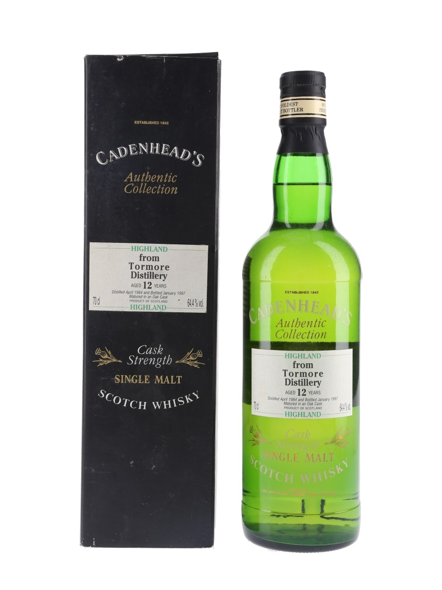 Tormore 1984 12 Year Old Bottled 1997 - Cadenhead's 70cl / 64.4%