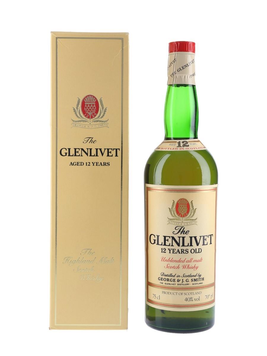Glenlivet 12 Year Old Bottled 1970s 75cl / 40%