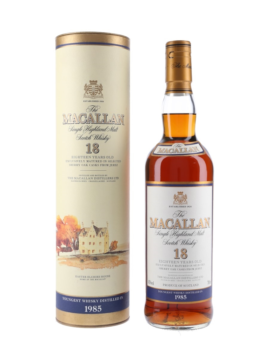 Macallan 18 Year Old Youngest Whisky Distilled In 1985 70cl / 43%