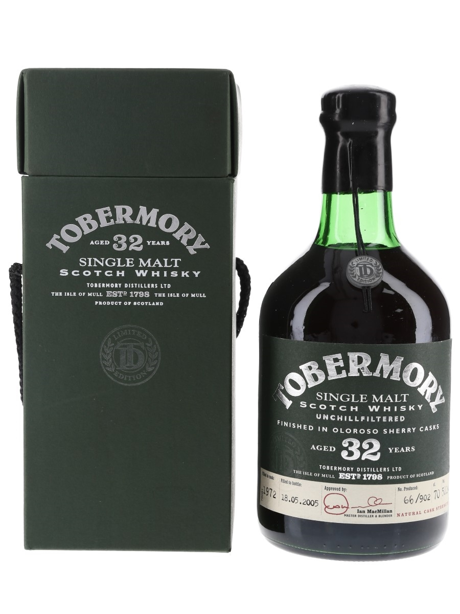 Tobermory 1972 32 Year Old Bottled 2005 70cl / 50.1%