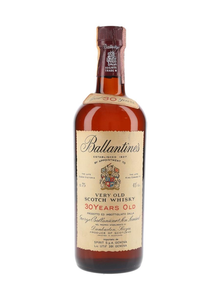 Ballantine's 30 Year Old Bottled 1970s - Spirit 75cl / 43%