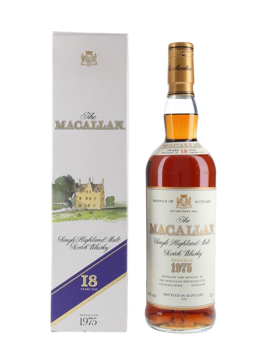 Macallan 1975 18 Year Old Bottled 1993 - Duty Free 75cl / 43%