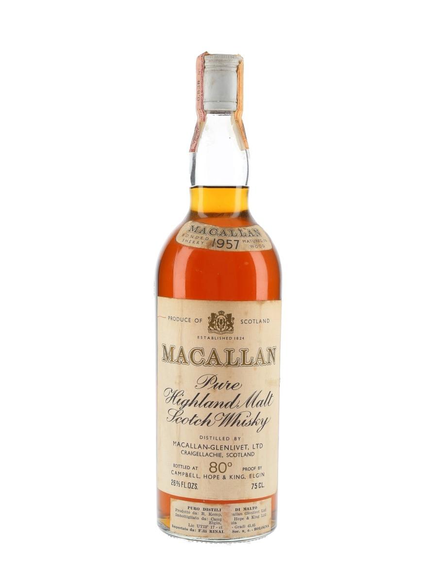 Macallan 1957 Campbell, Hope & King Bottled 1970s 75cl / 46%