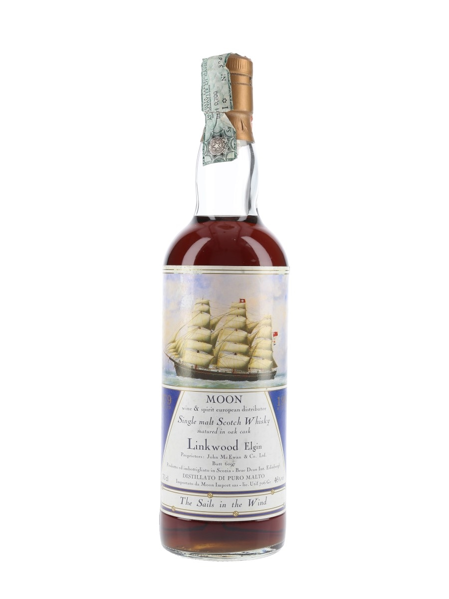 Linkwood 1979 Butt No. 6097 The Sails In The Wind Bottled 1993 - Moon Import 75cl / 46%