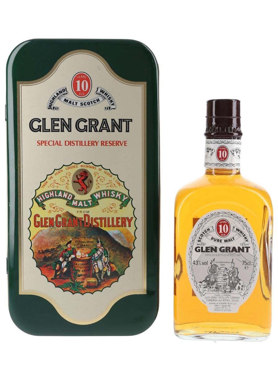 Glen Grant 10 Year Old Bottled 1980s - Seagram 75cl / 43%