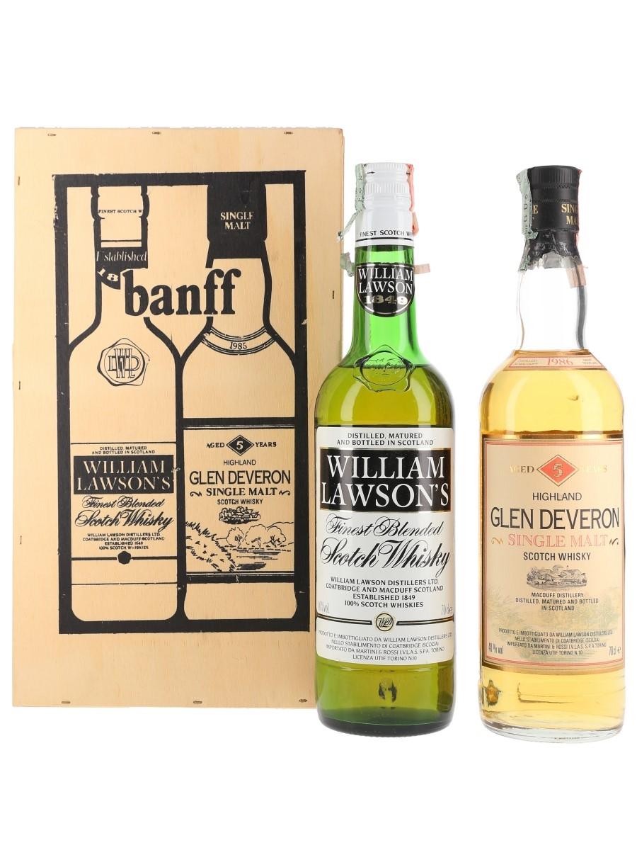 William Lawson's & Glen Deveron 1986 Bottled 1990s - Martini & Rossi 2 x 70cl / 40%