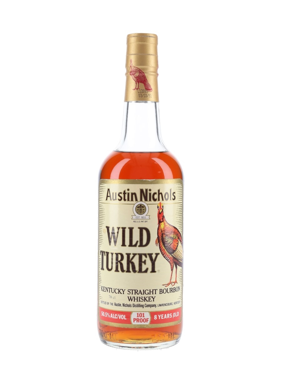 Wild Turkey 8 Year Old Bottled 1990s - Lawrenceburg 70cl / 50.5%