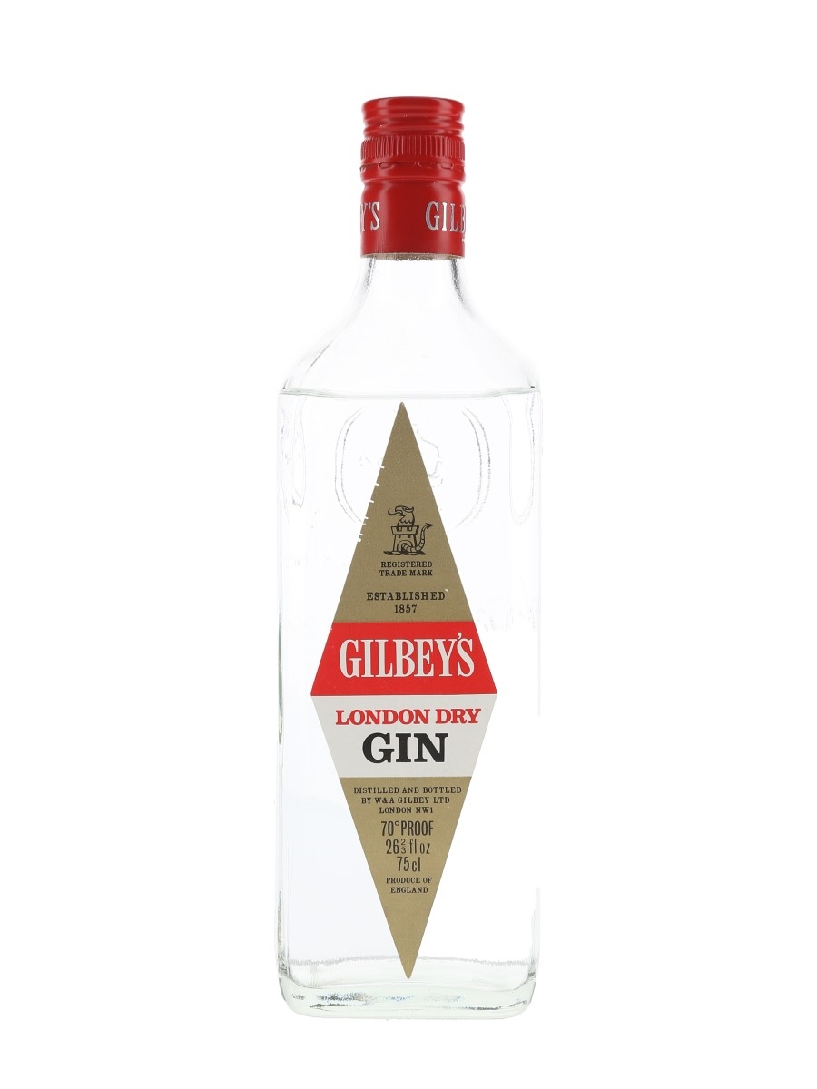 Gilbey's London Dry Gin Bottled 1970s 75cl / 40%