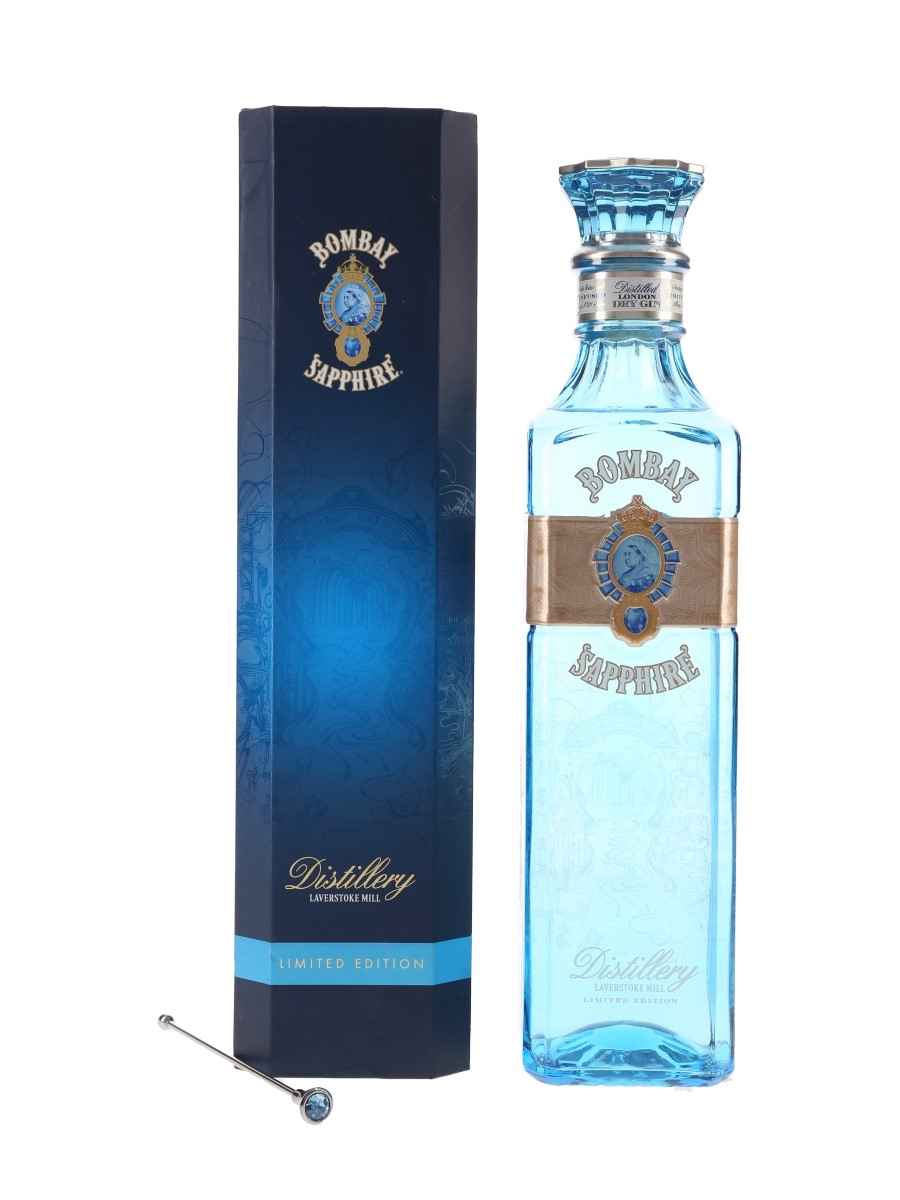 Bombay Sapphire Laverstoke Mill Limited Edition Includes Cocktail Stirrer 70cl / 49%