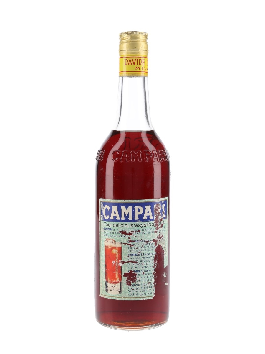 Campari Bitter Bottled 1970s - Missing Label 75cl