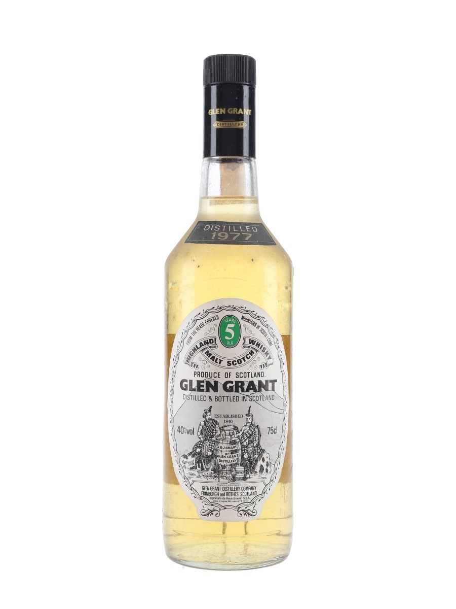 Glen Grant 1977 5 Year Old Bottled 1980s - Rene Briand 75cl / 40%