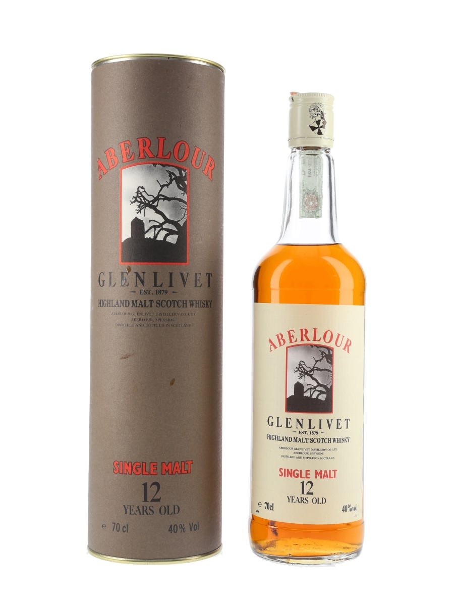 Aberlour Glenlivet 12 Year Old Bottled 1990s - Ramazzotti 70cl / 40%