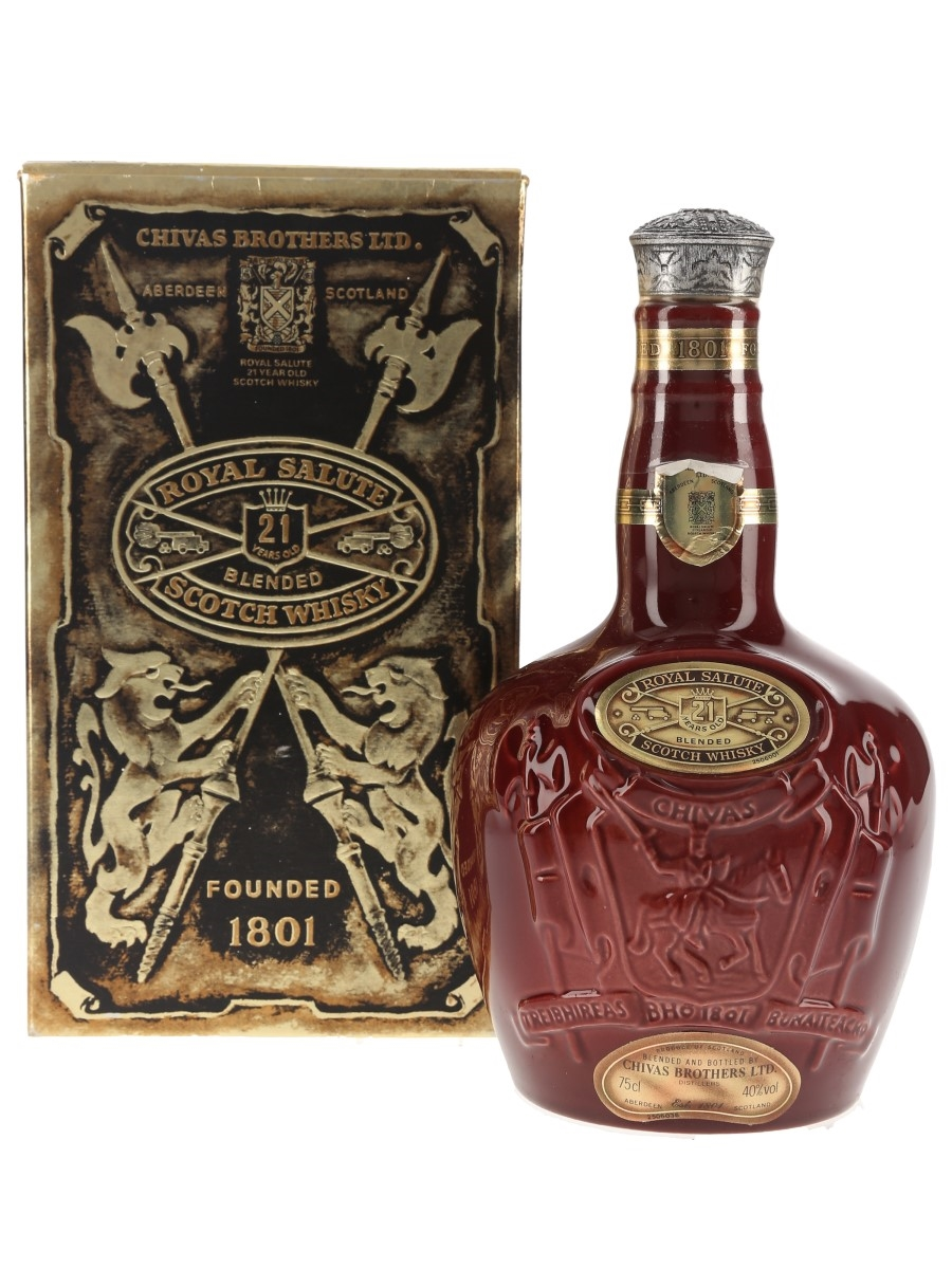 Royal Salute 21 Year Old Bottled 1980s - Red Wade Ceramic Decanter 75cl / 40%