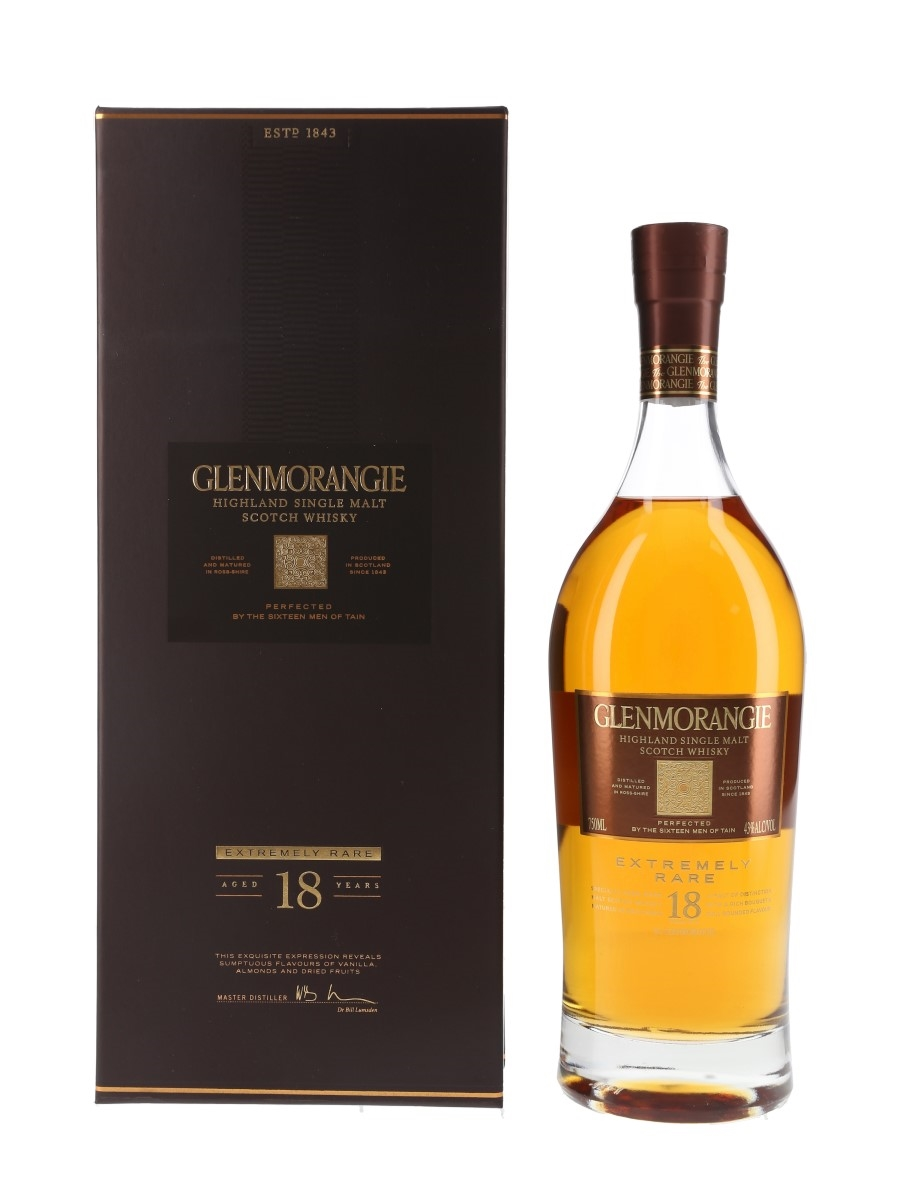 Glenmorangie 18 Year Old Extremely Rare Bottled 2015 - Moet Hennessy USA 75cl / 43%