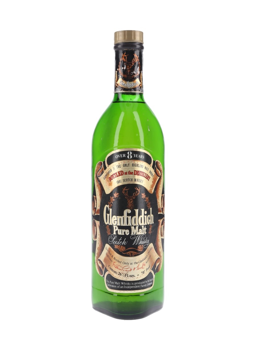 Glenfiddich 8 Year Old Pure Malt Bottled 1970s 75.7cl / 40%