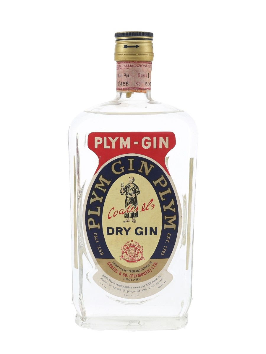 Coates & Co. Plym Gin Bottled 1960s - Stock 75cl / 46%