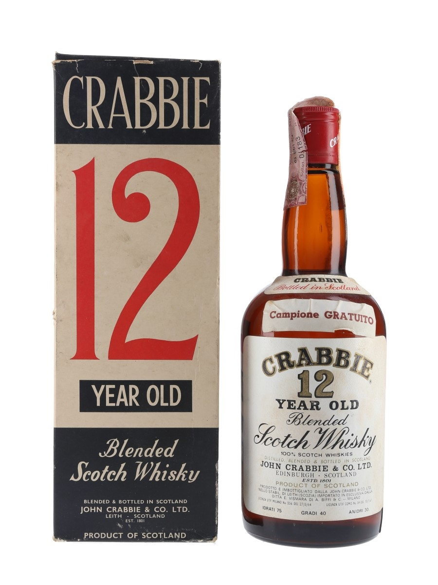 Crabbie 12 Year Old Bottled 1970s - Vismara & Biffi 75cl / 40%