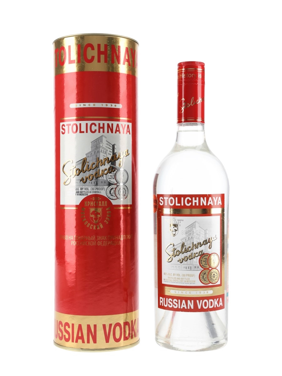 Stolichnaya Russian Vodka Duty Free 75cl / 40%