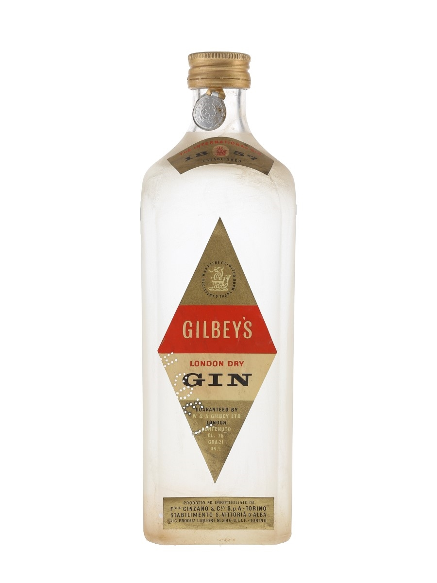 Gilbey's London Dry Gin Bottled 1950s - Cinzano 75cl / 46.2%