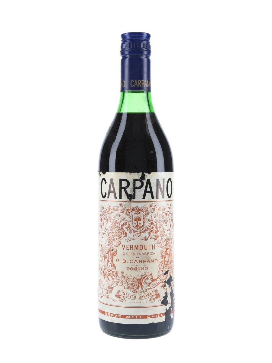 Carpano Vermouth Classico Bottled 1970s 75cl